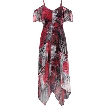 Zipfel-Kleid ohne Ärmel  in schwarz von bonprix