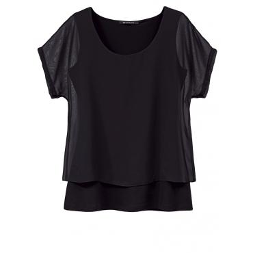 2-in-1-Shirt im Lagen-Look Sara Lindholm Schwarz,schwarz