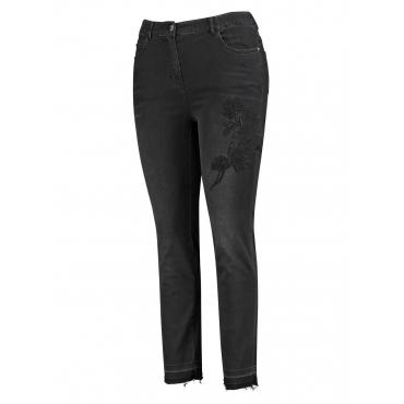 5-Pocket-Jeans mit Stickerei, Betty Samoon Black Denim