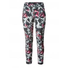7/8 Funktions-Sporthose schwarz-grau-pink