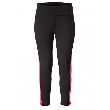 7/8 Funktions-Sporthose schwarz-pink