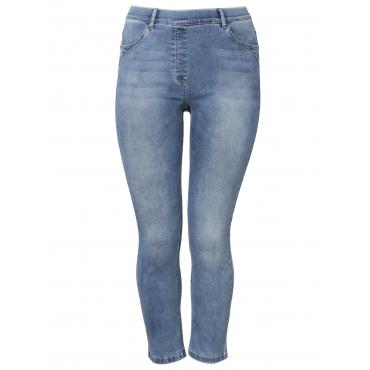 7/8-Hose mit dezenter Waschung Via Appia Due jeans mittelblau