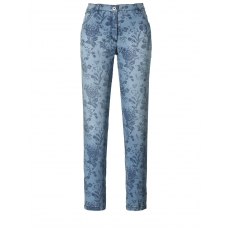 7/8 Jeans Betty Röhre  mit Blumen-Print KjBrand Blue bedruckt