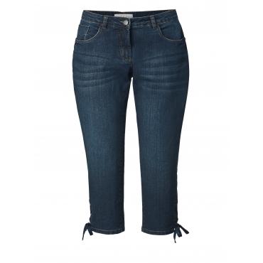 7/8 Slim Fit Jeans mit Schnürung Janet & Joyce Dunkelblau