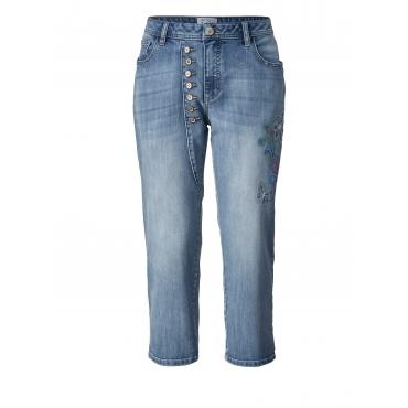7/8 Slim Fit Jeans mit Stickerei Angel of Style Blau