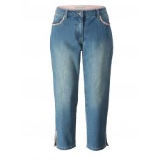 7/8 Slim Fit Trachten-Jeans Janet & Joyce bluebleached