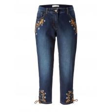 7/8 Slim Fit Trachten-Jeans mit Strass Janet & Joyce Darblue like 94063
