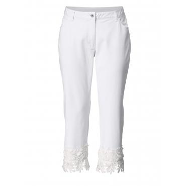 7/8 Straight Cut Jeans mit Spitze Sara Lindholm Weiß