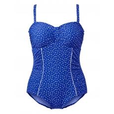 Badeanzug Maritim blau/weiß