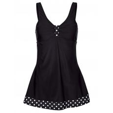 Badekleid Harmony schwarz/weiß
