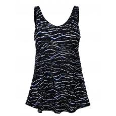 Badekleid Maritim schwarz/royalblau