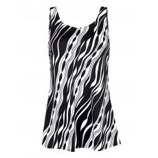 Badekleid Maritim schwarz/weiß