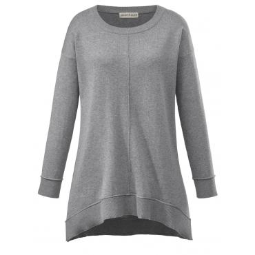 Basic Pullover Janet & Joyce grau melange