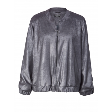 Blouson im Metallic Look Via Appia Due Silber