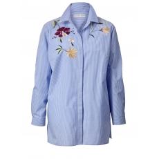 Bluse gestreift mit Stickerei Janet & Joyce blau/ weiß gestrei