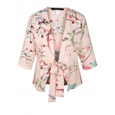 Bluse im Kimono-Stil mit Allover-Print Sara Lindholm gemustert
