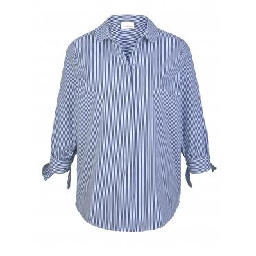 Bluse MIAMODA Blau::Weiß