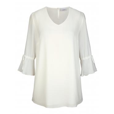 Bluse MIAMODA Creme-Weiß