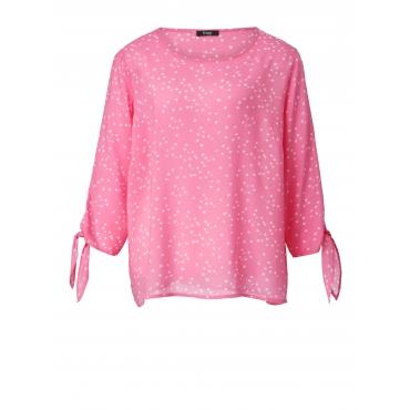Bluse mit Allover-Print Frapp Rosé