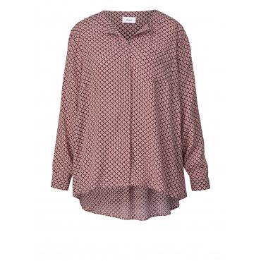Bluse mit Allover-Print Zizzi Rosé