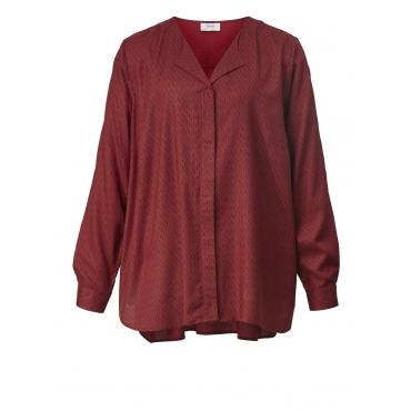 Bluse mit Allover-Print Zizzi rot bedruckt
