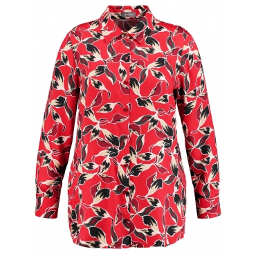 Bluse mit Blätter-Print Samoon Maple Druck