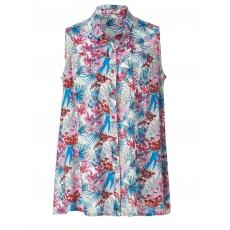 Bluse mit Blumen-Print Gozzip pink bunt