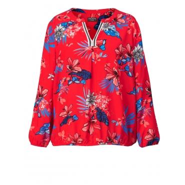 Bluse mit Blumen-Print Via Appia Due Schwarz
