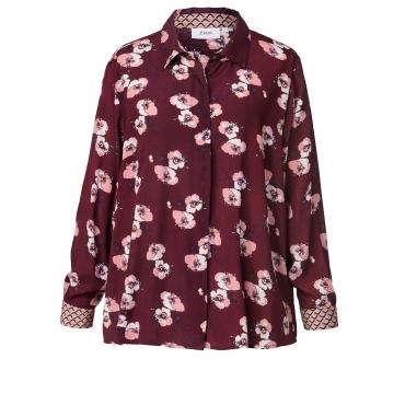 Bluse mit Blumen-Print Zizzi Bordeaux