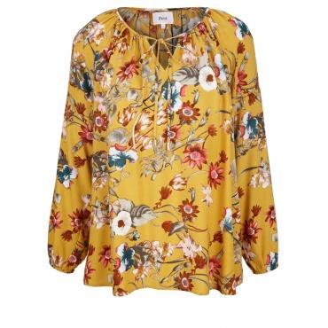 Bluse mit Blumen-Print Zizzi Gelb