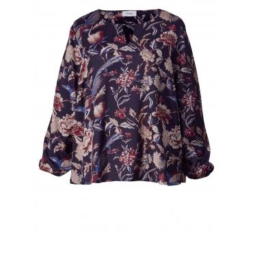 Bluse mit Blumen-Print Zizzi Marineblau