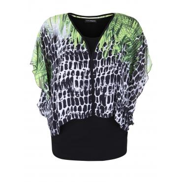 Bluse mit buntem Überwurf Doris Streich kiwi