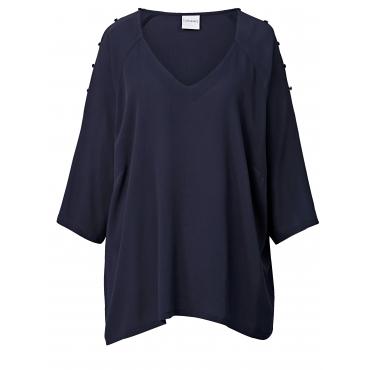 Bluse mit Cut-outs Junarose Marineblau