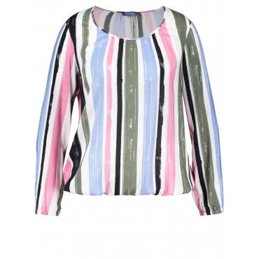 Bluse mit legerem Cut Samoon Offwhite Multicolor Ringel