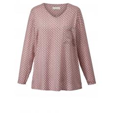 Bluse mit Print und Glitzer Janet & Joyce rosa bedruckt