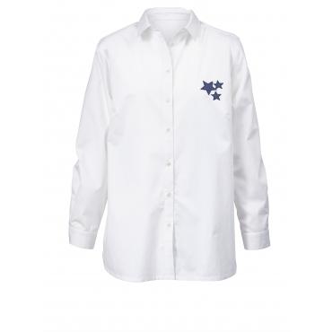 Bluse mit Rückenprint Angel of Style Weiß