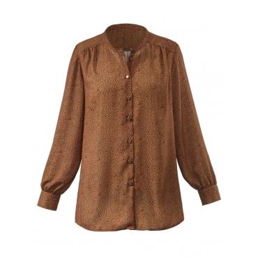 Bluse mit Stehkragen Janet & Joyce cognac