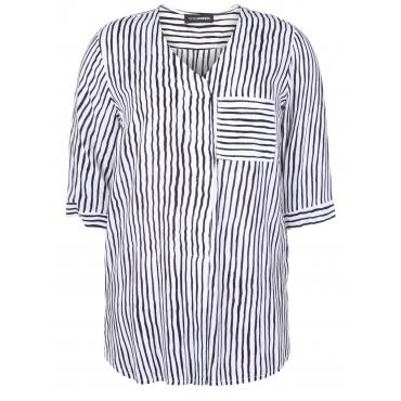 Bluse mit Streifenmuster Doris Streich schwarz-weiß