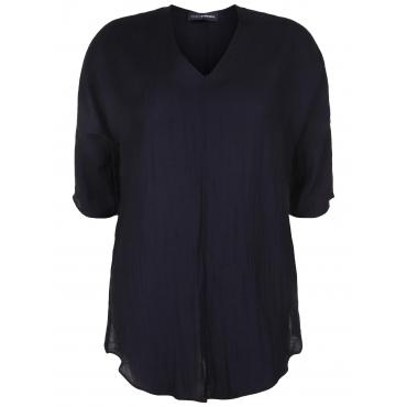 Bluse mit V-Ausschnitt Doris Streich schwarz