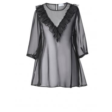Bluse mit Volant Angel of Style schwarz