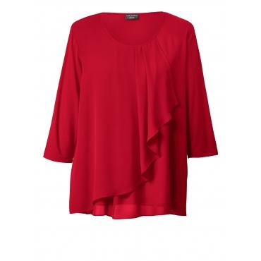 Bluse mit Volant Via Appia Due Rot