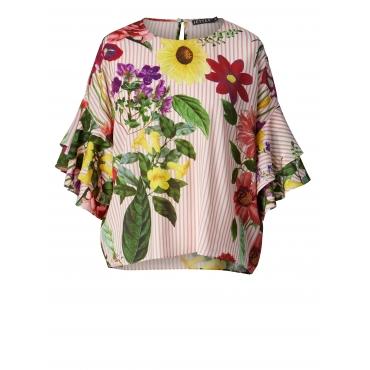 Bluse mit Volants und Blumen-Print Jette Multicolor