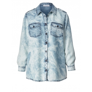 Bluse moon wash Angel of Style Blau