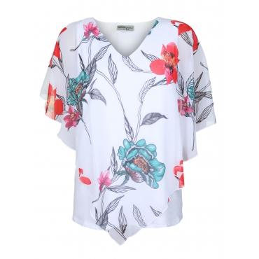Blusenshirt mit Blumenprint seeyou reinweiss
