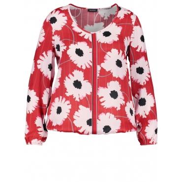 Blusenshirt mit Flower-Print Samoon Maple gemustert