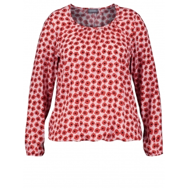 Blusenshirt mit Flower-Print Samoon Marshmallow gemustert