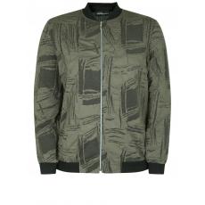 Bomberjacke mit strukturiertem Muster seeyou khaki