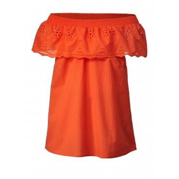 Carmen-Bluse mit Spitze Janet & Joyce Orange