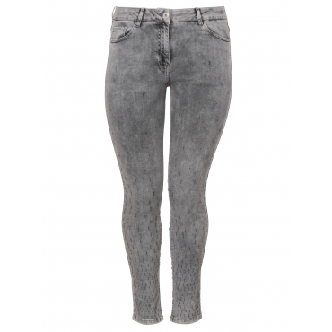Coole Jeans mit Stickereien Frapp dark grey denim