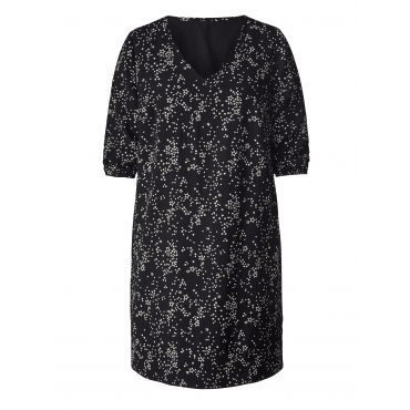 Crêpe-Kleid mit Allover-Print Janet & Joyce Schwarz